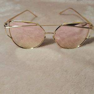 New Gold Mirror Sunglasses
